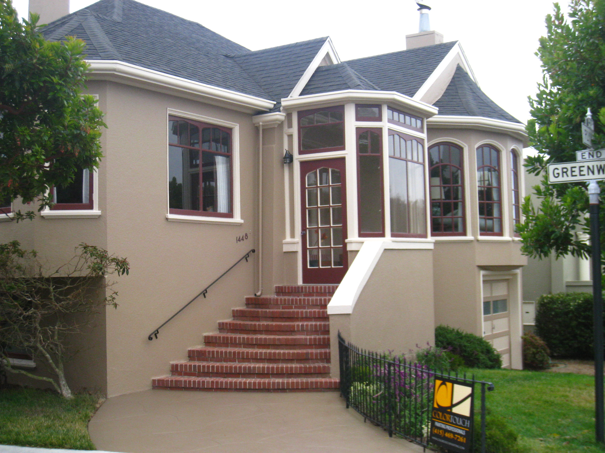 exterior painting project in san francisco by color touch