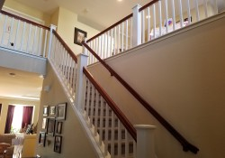 Residential painting contractor for handrail